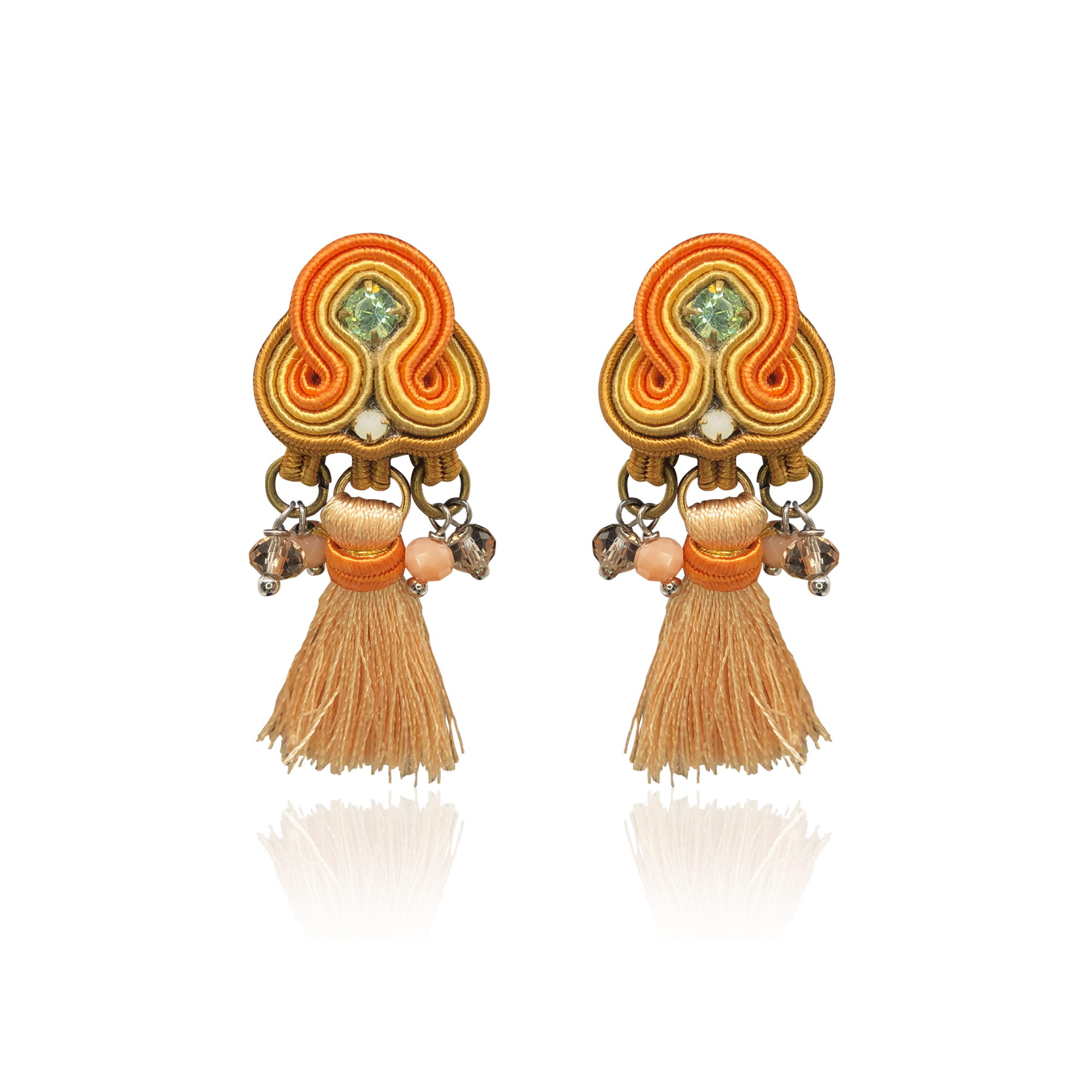 Pumpkin Orange Mini Borla Earrings