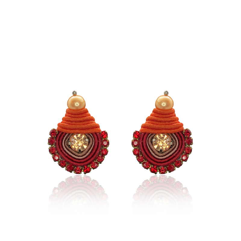 Red Mini Dopo Earrings