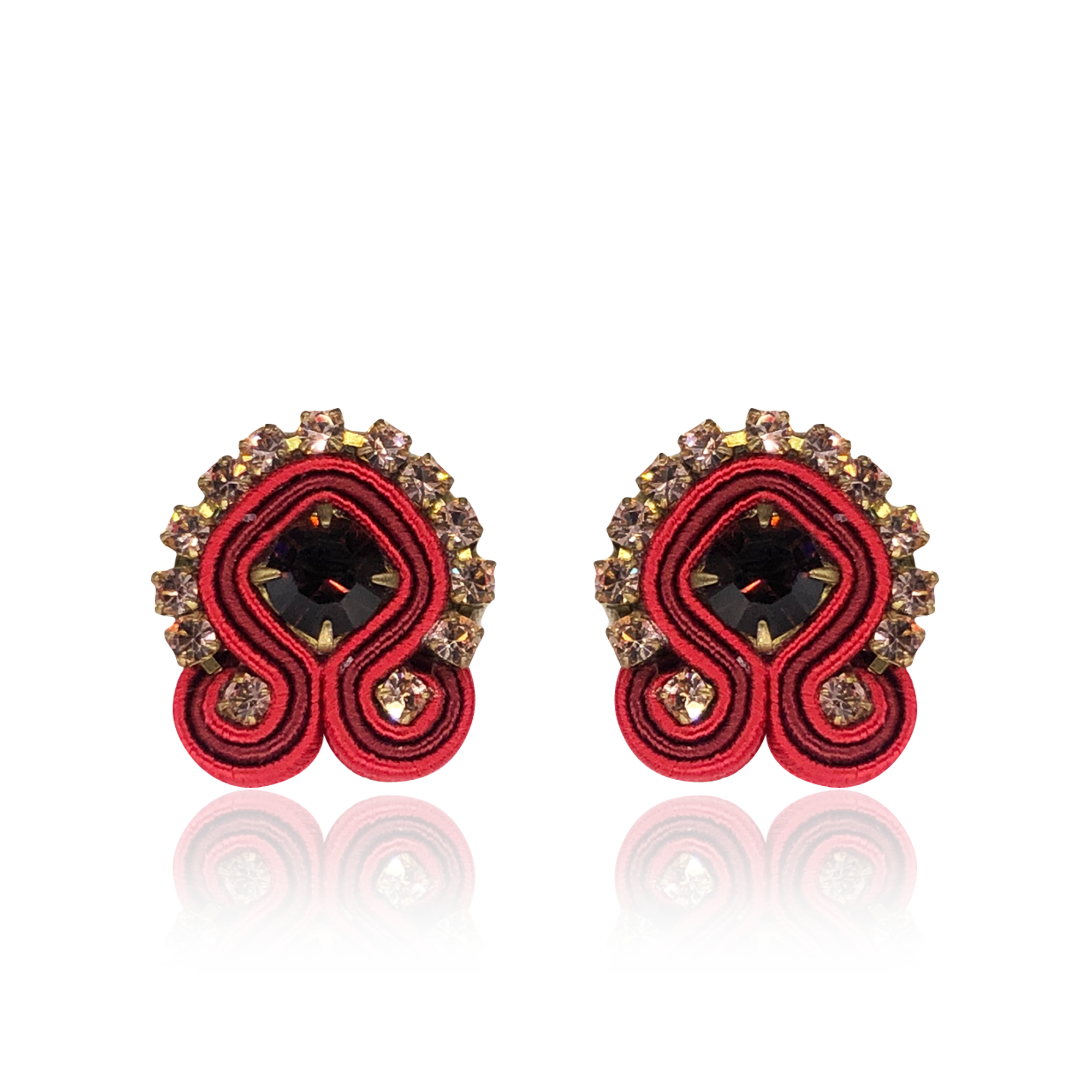 Apple Red Mini Acqua Earrings