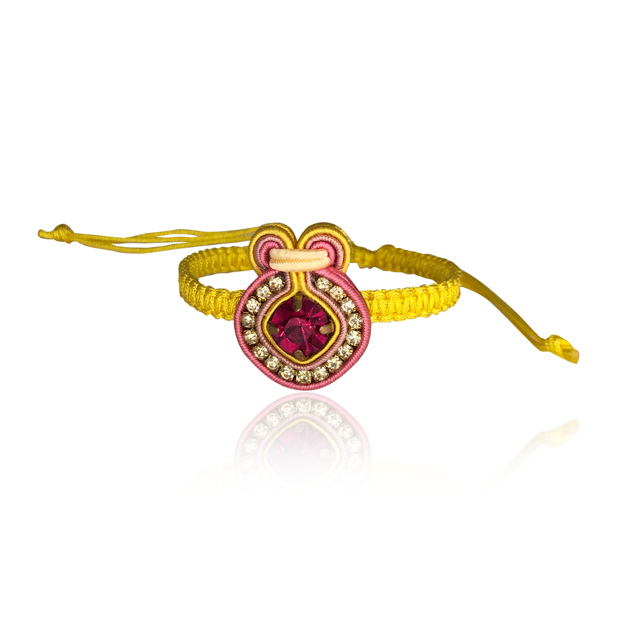 Yellow and Pink Bracelet