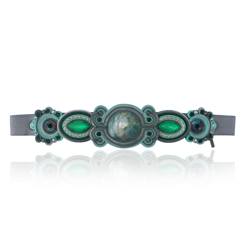 Emerald and Grey Belt