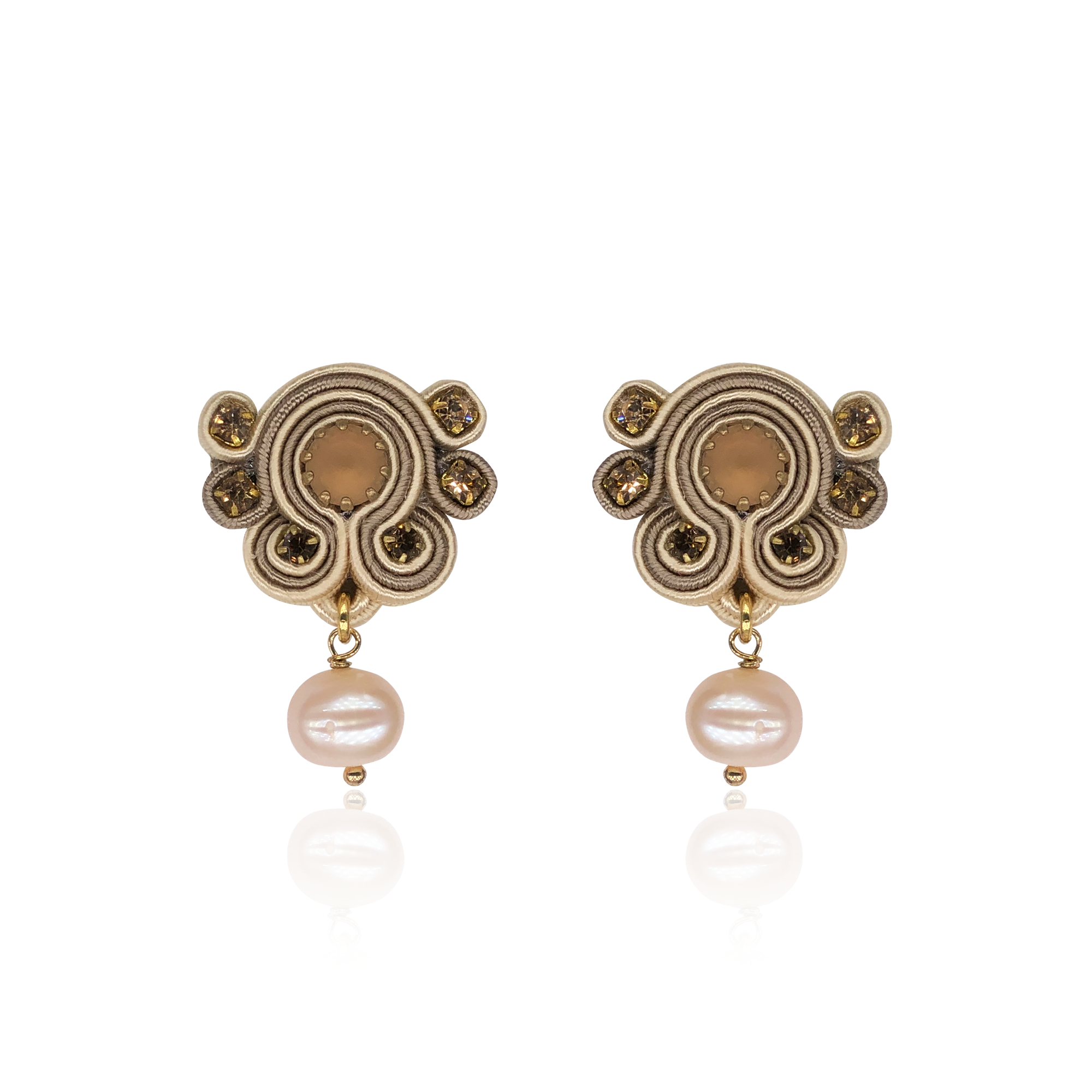 Beige Bari Earrings
