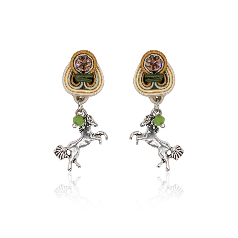Horse Mini Dije Earrings