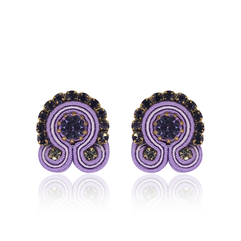 Lilac Mini Acqua Earrings