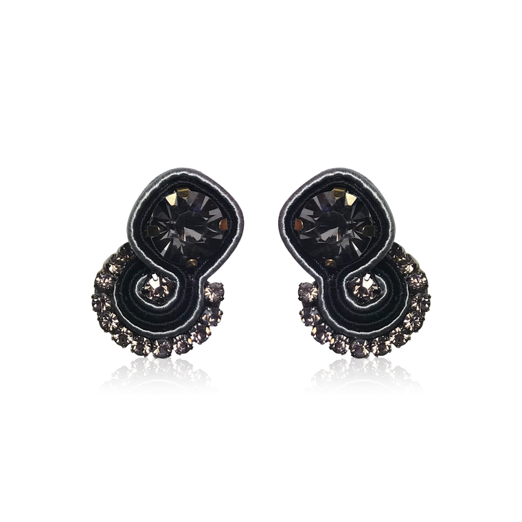 Dopodomani Gray Round Mini Mamma Earrings