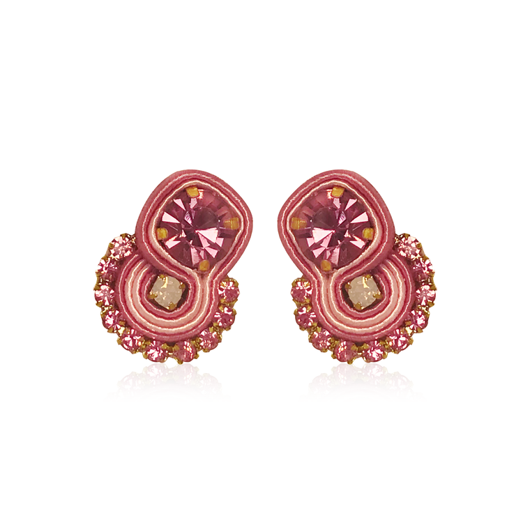 Dopodomani Pink Ballerina Round Mini Mamma Earrings