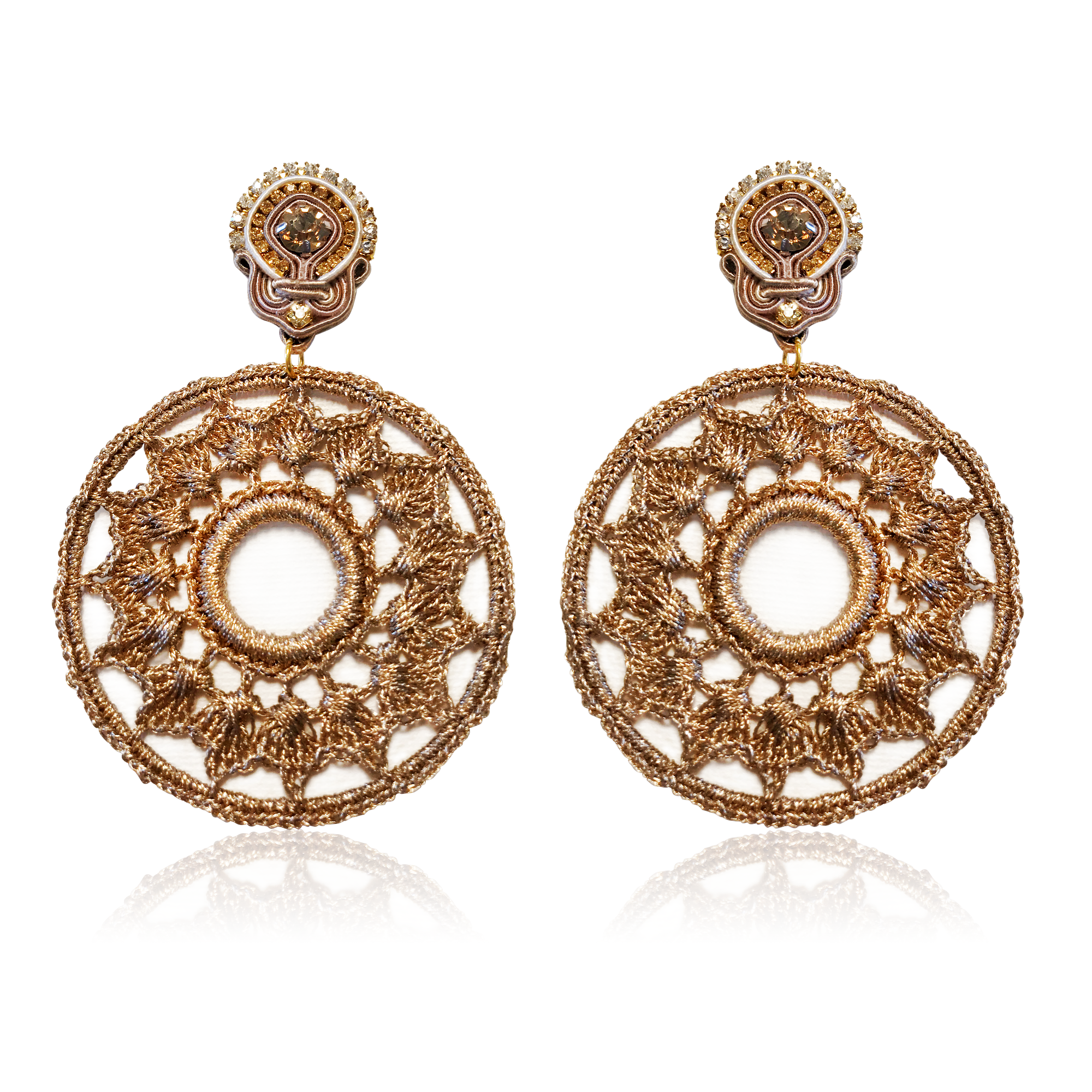 Mandala Golden Earrings