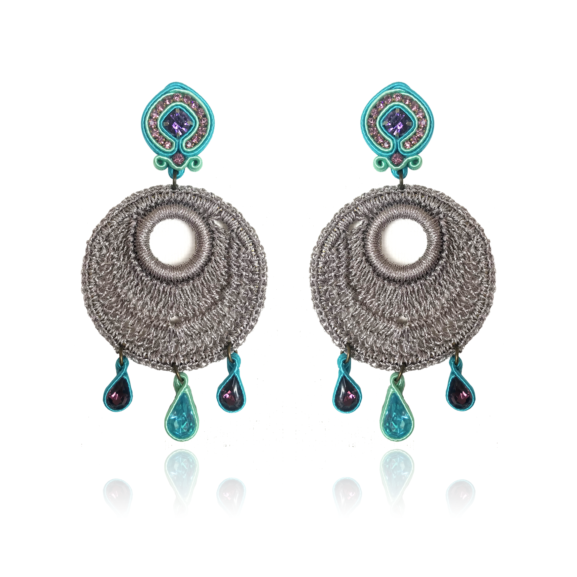 Mandala Medio Acqua Earrings