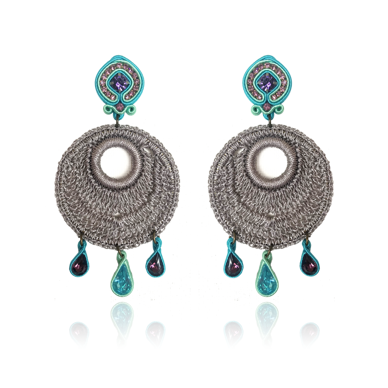 Dopodomani Acqua Medio Mandala Earrings