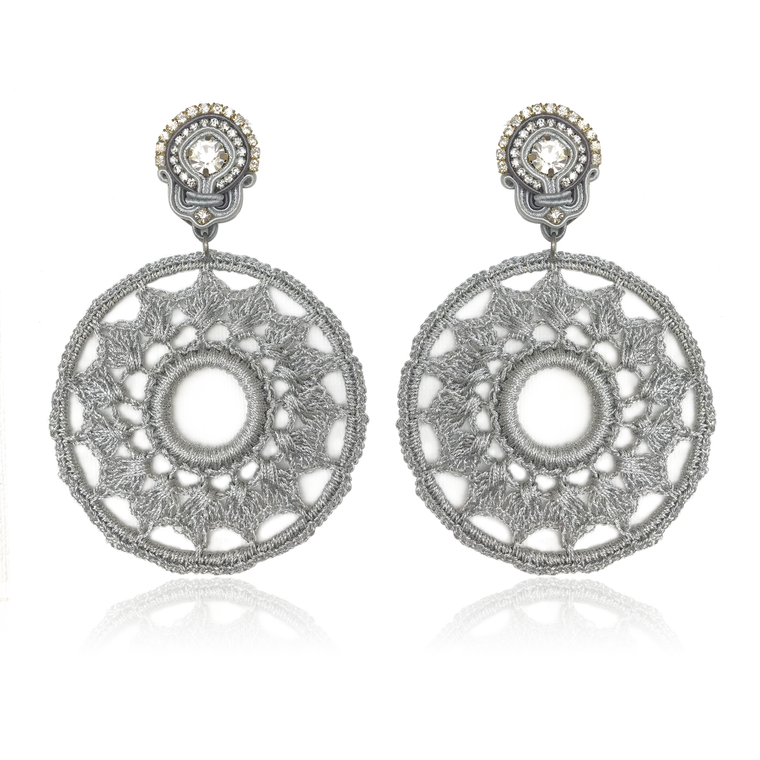 Dopodomani Silver Mandala Earrings