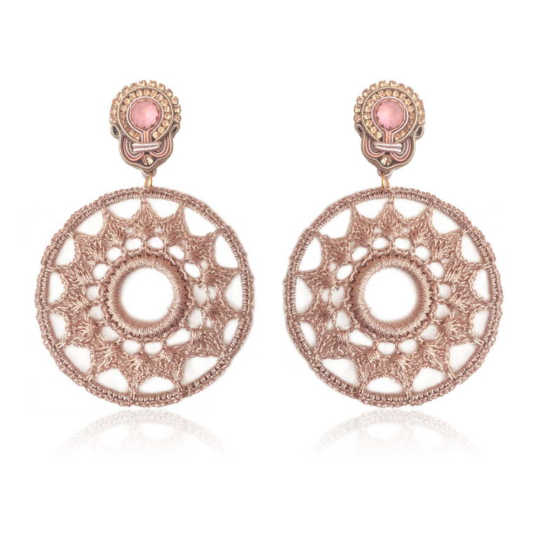Dopodomani Rose Gold Mandala Earrings
