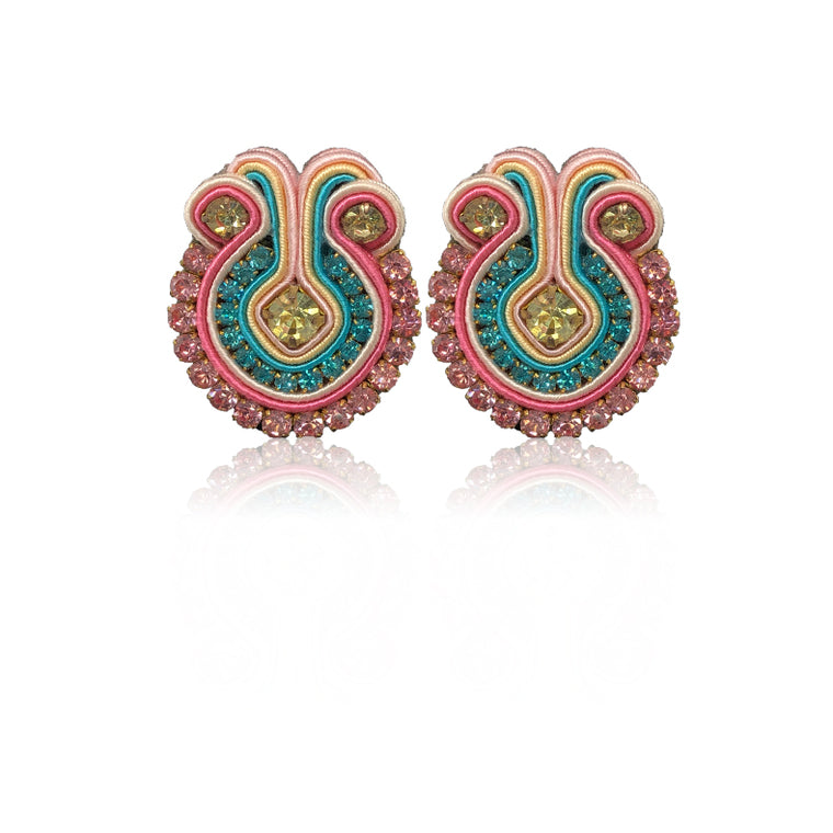 Francesca Baby Pink and Babu Blue Earrings
