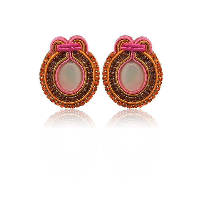 Marte Orange and Pink Earring