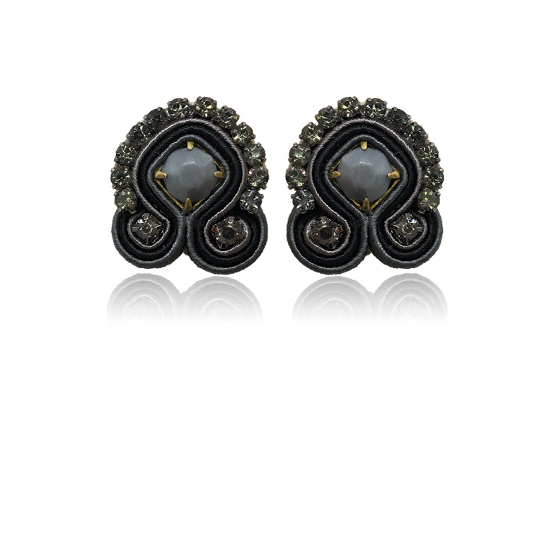 Mini Acqua Black Earrings