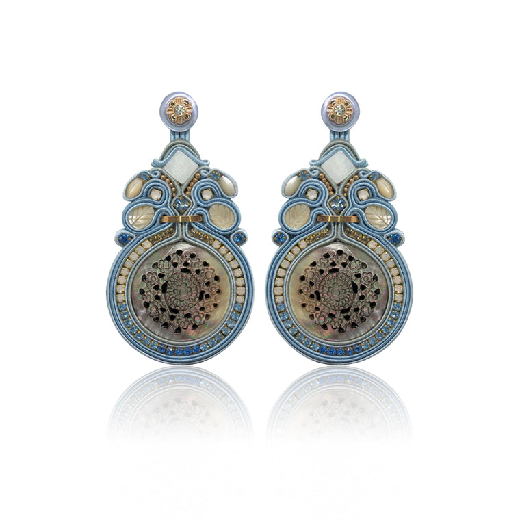 Tramonto Baby Blue Earrings