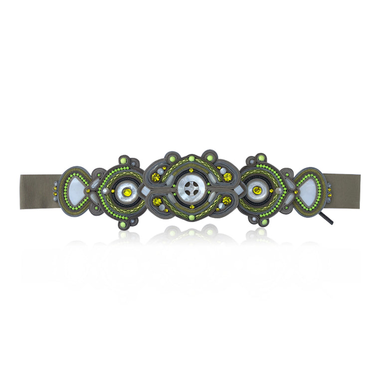 Grey and Yellow Fluo Belt