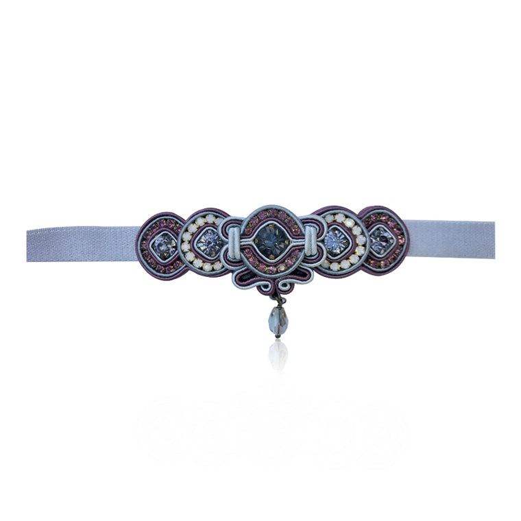 Grey and Purple Grape Choker