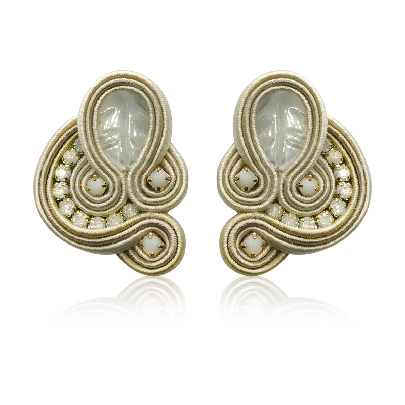 Dopodomani Beige Donna Earrings