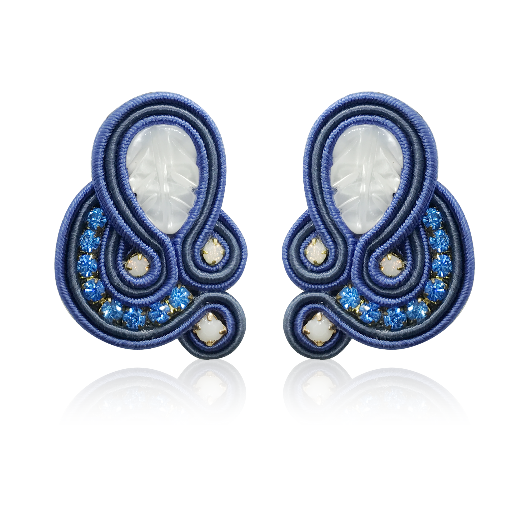 Donna Navy Blue Earrings