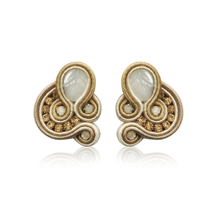 Dopodomani Beige Mini Donna Earrings