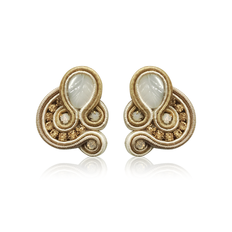 Mini Donna Beige Earrings