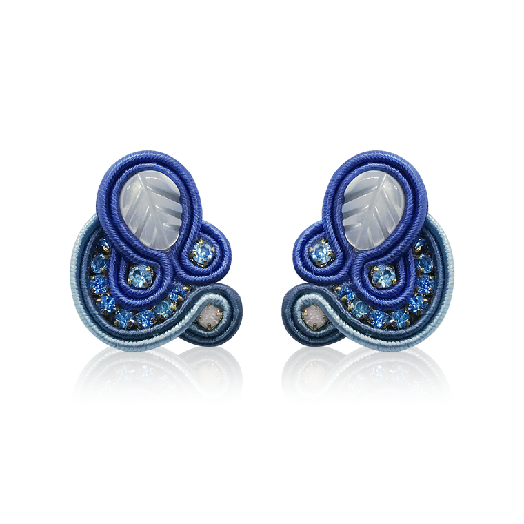 Dopodomani Navy Blue Mini Donna Earrings