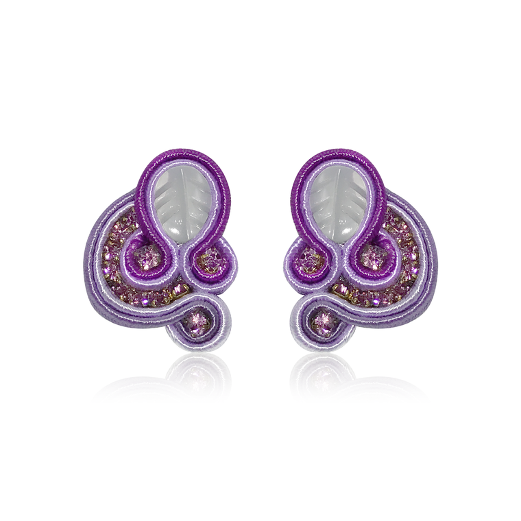 Mini Donna Violet Earrings