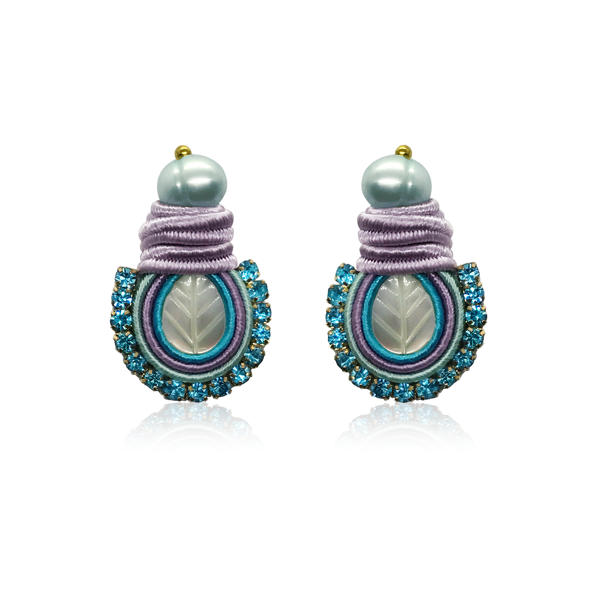 Dopodomani Baby Blue Mini Nakar Earrings
