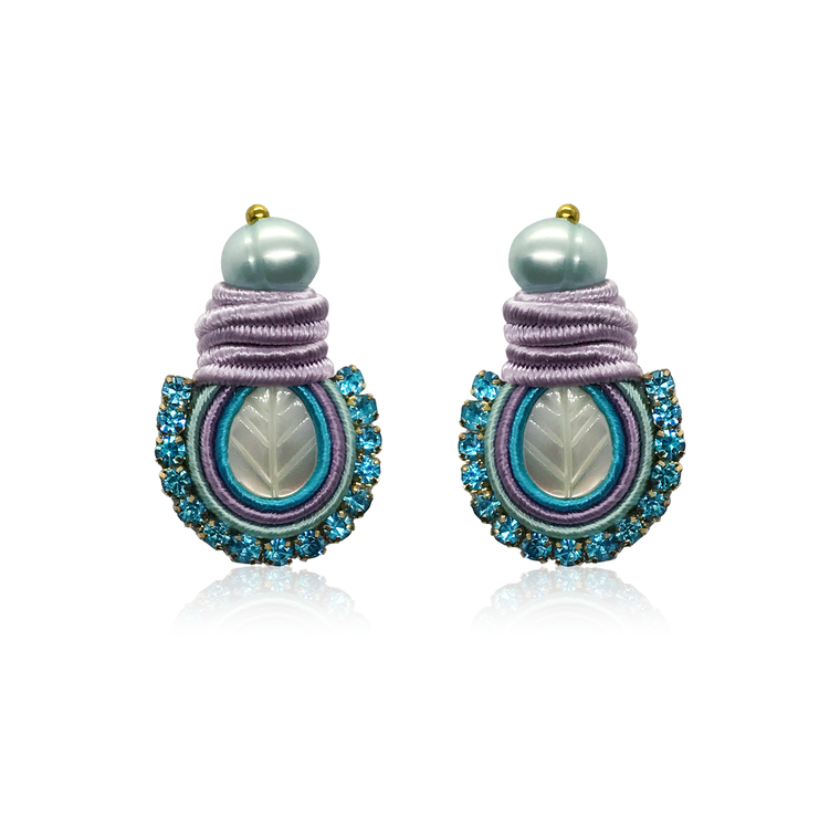 Mini Nakar Baby Blue  Earrings