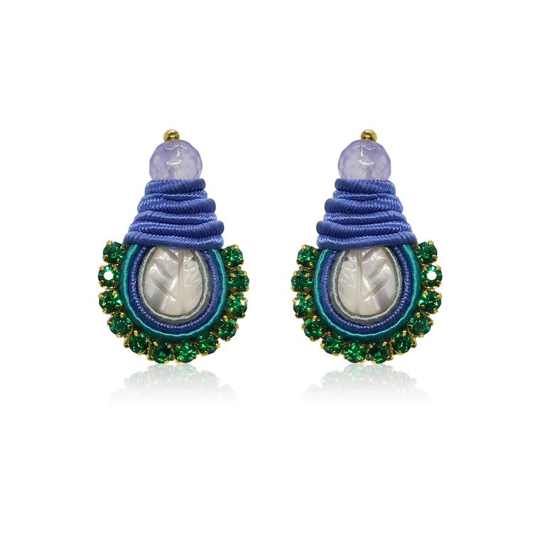 Mini Nakar Blue Earrings