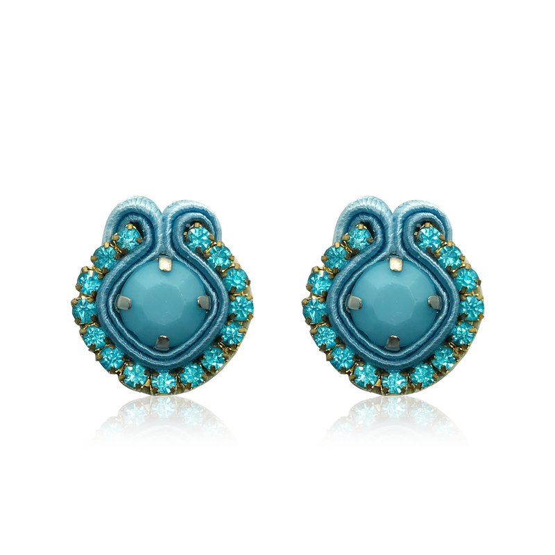 Mini Acqua Cielo Swarovski Earrings