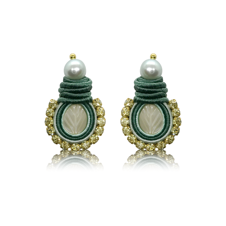 Mini Nakar Green Earrings