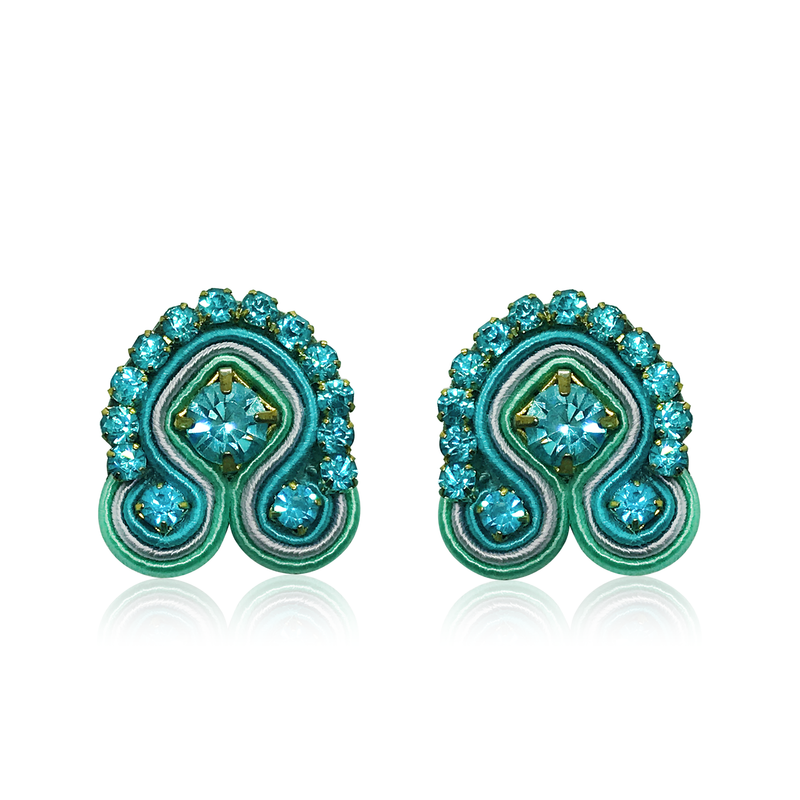 Mini Acqua Mirtillo Blu Swarovski Earrings