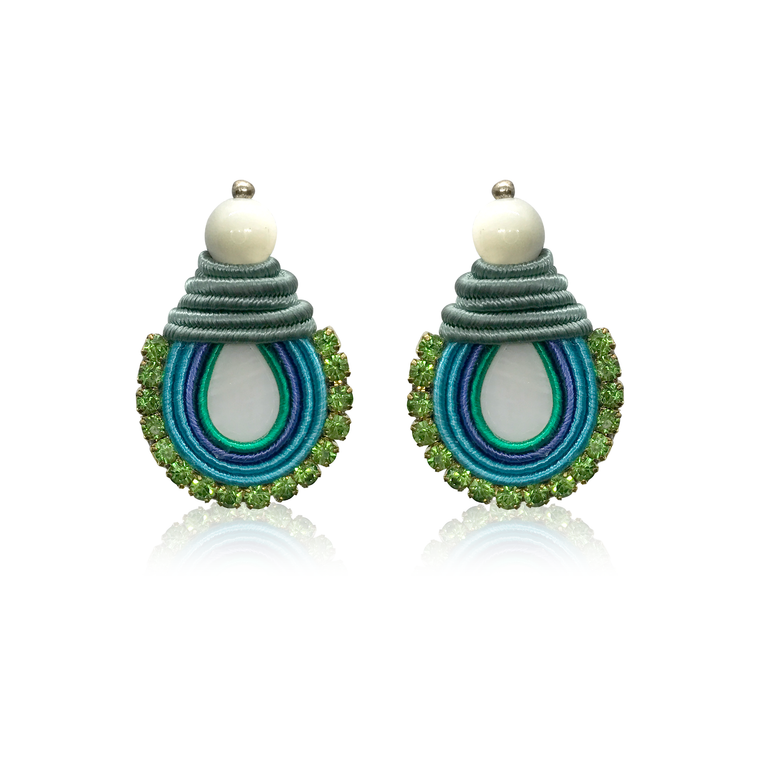 Mini Nakar Ocean Blue Earrings