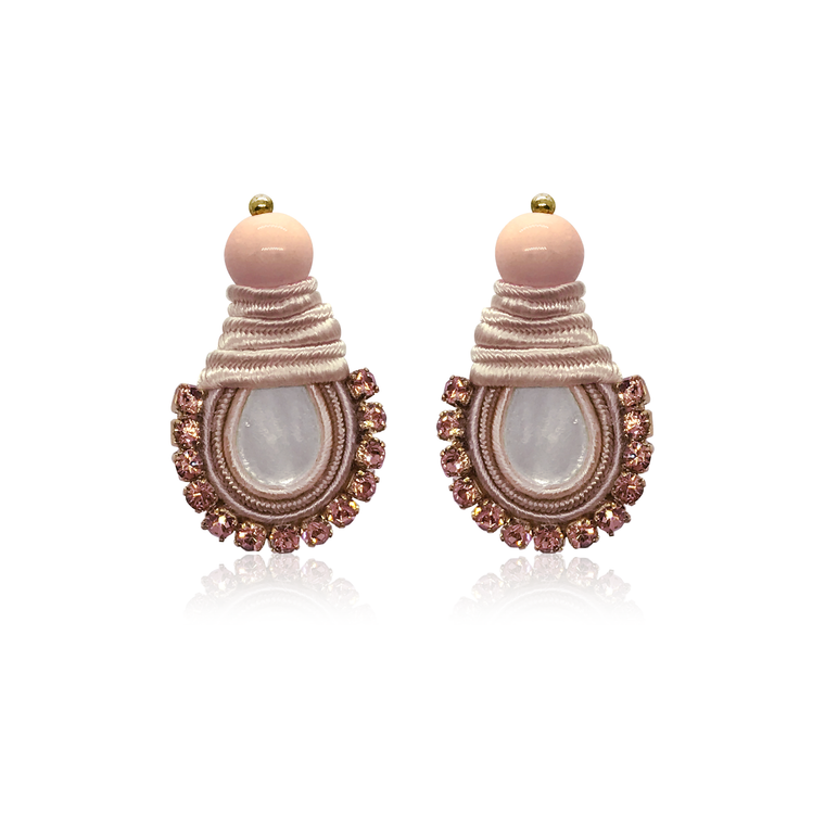 Mini Nakar Pink Ballerina Earrings