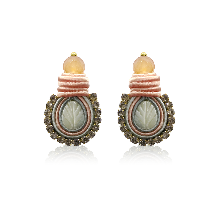 Mini Nakar Pink Earrings