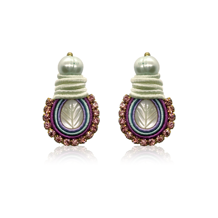 Mini Nakar Purple Earrings