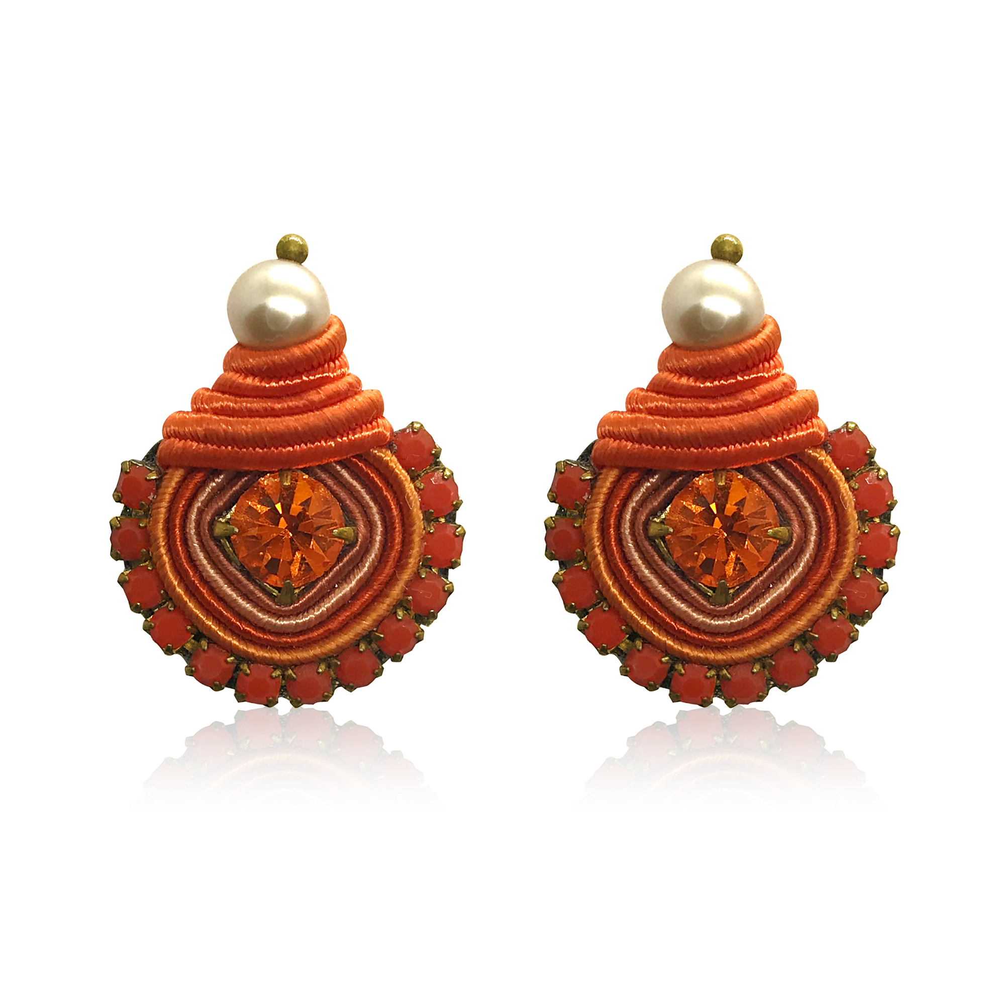 Dopodomani Orange Swarovski Mini Dopo Earrings