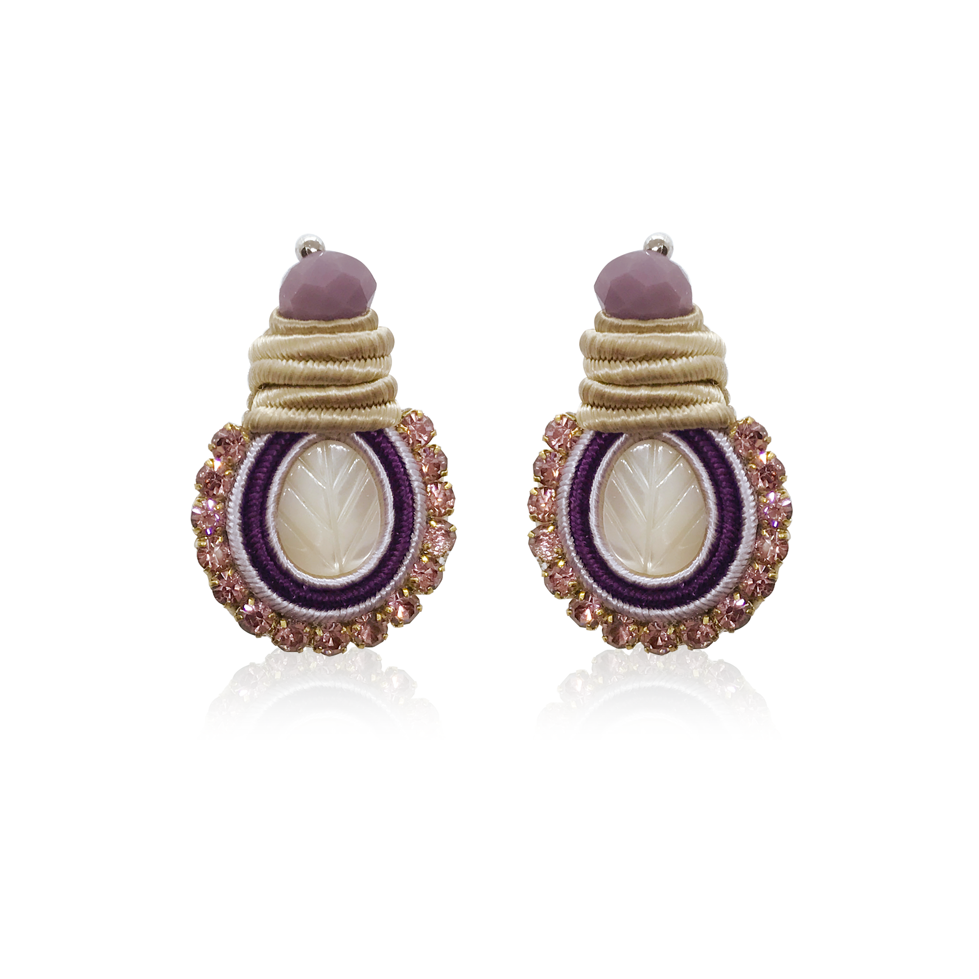 Mini Nakar Violet Earrings