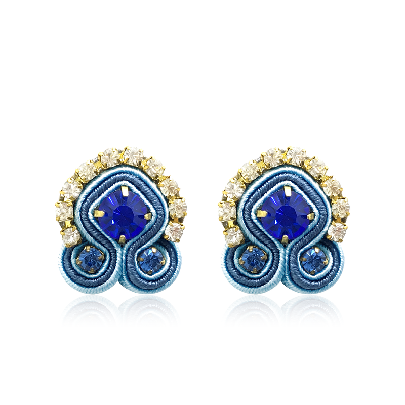 Dopodomani Zaffiro Swarovski Mini Acqua Earrings