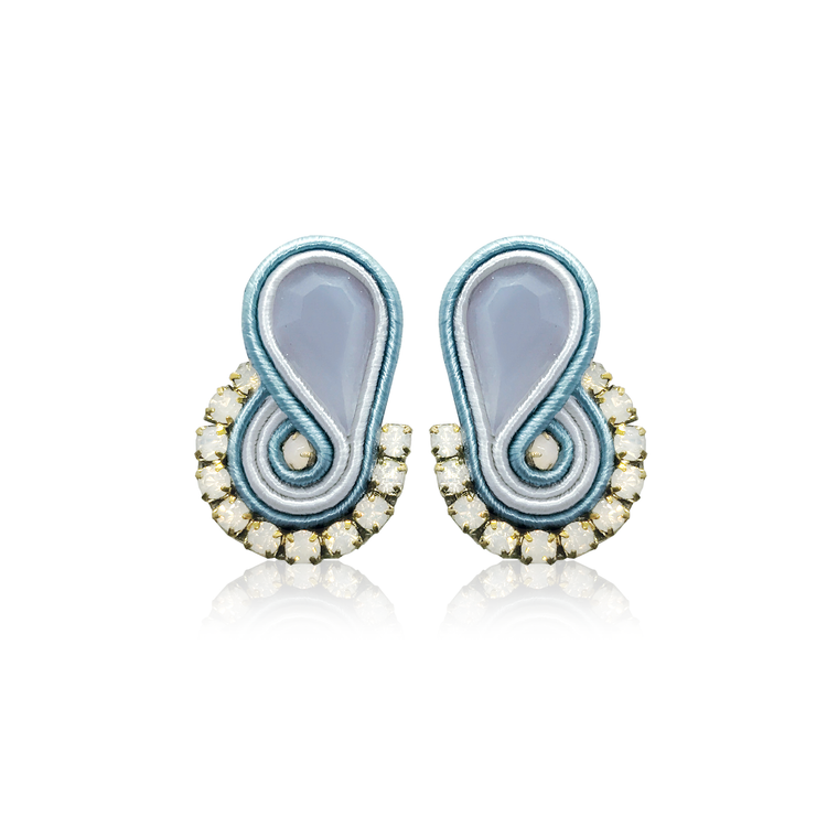 Dopodomani Baby Blue Mini Mamma Earrings