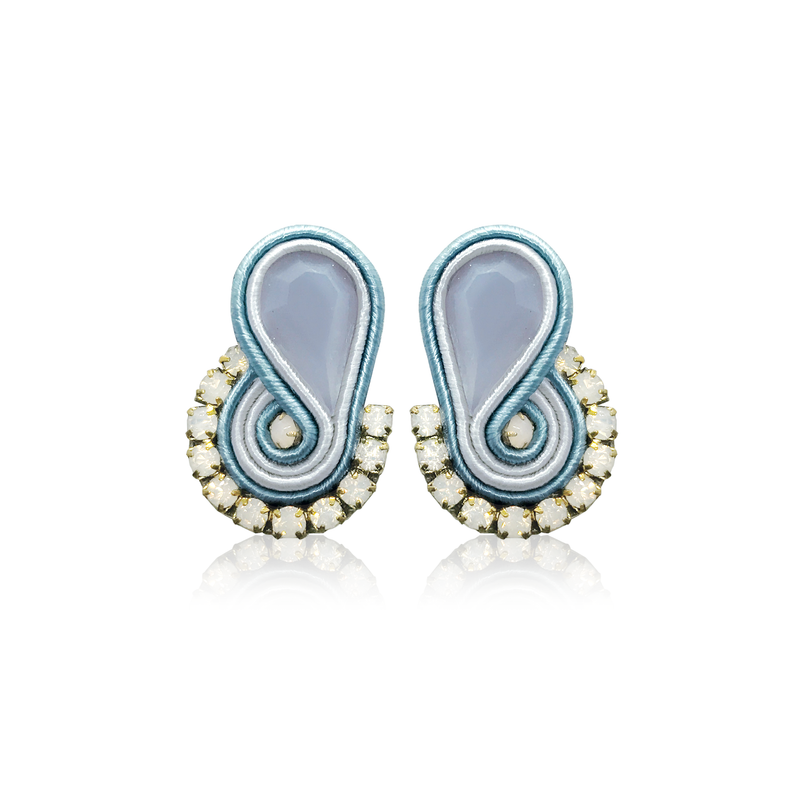 Mini Mamma Baby Blue  Earrings