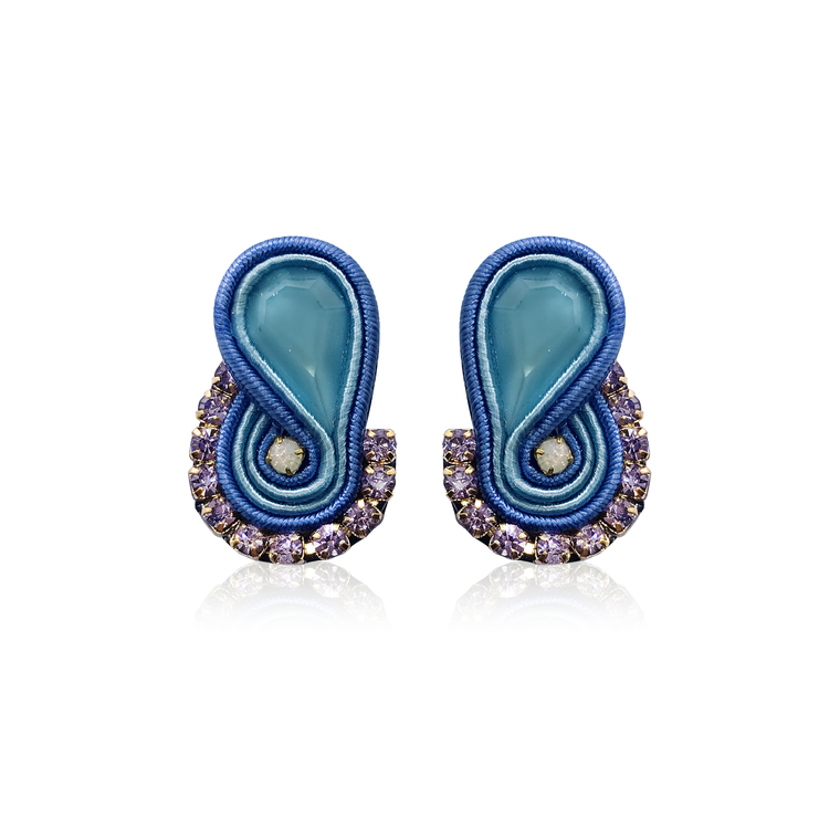 Dopodomani Blue Mini Mamma Earrings