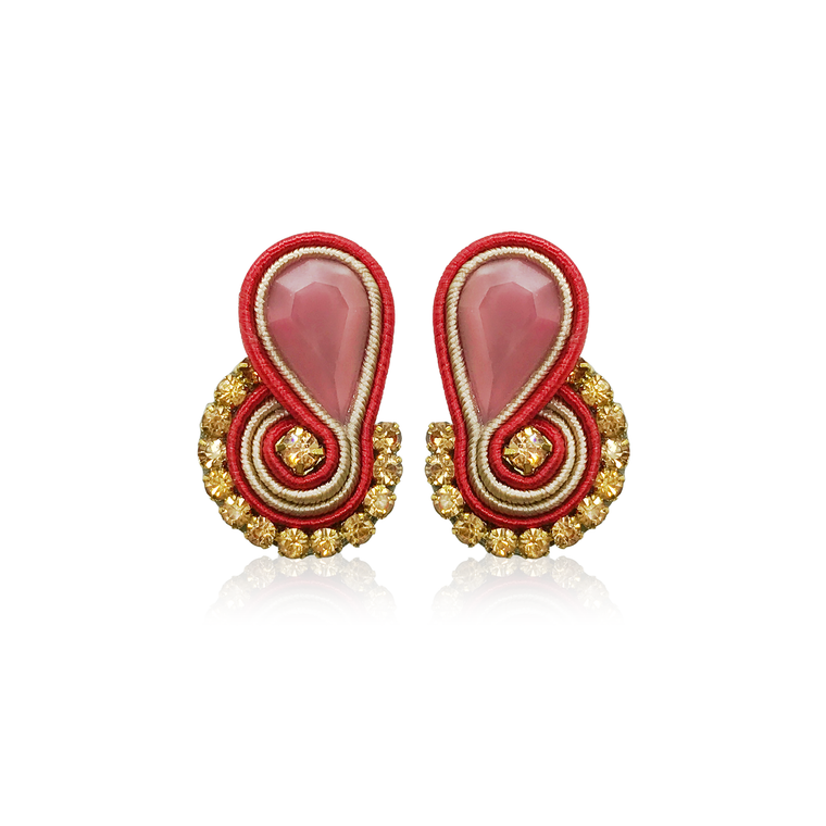 Dopodomani Red Mini Mamma Earrings