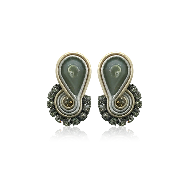 Dopodomani Grey Mini Mamma Earrings