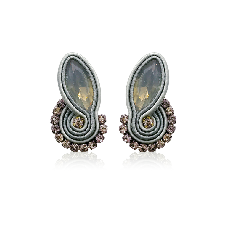 Dopodomani Long Light Grey Mini Mamma Earrings