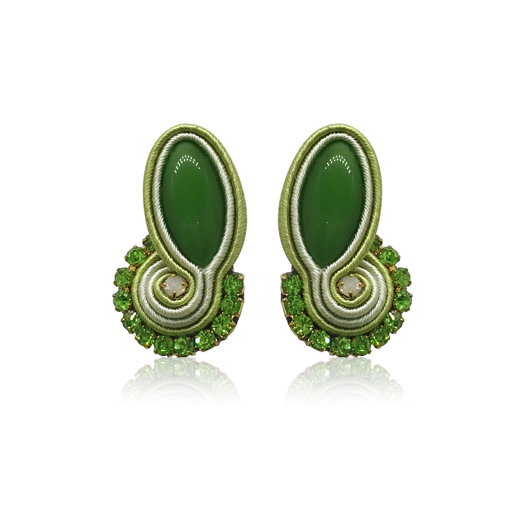 Dopodomani Long Green Mini Mamma Earrings