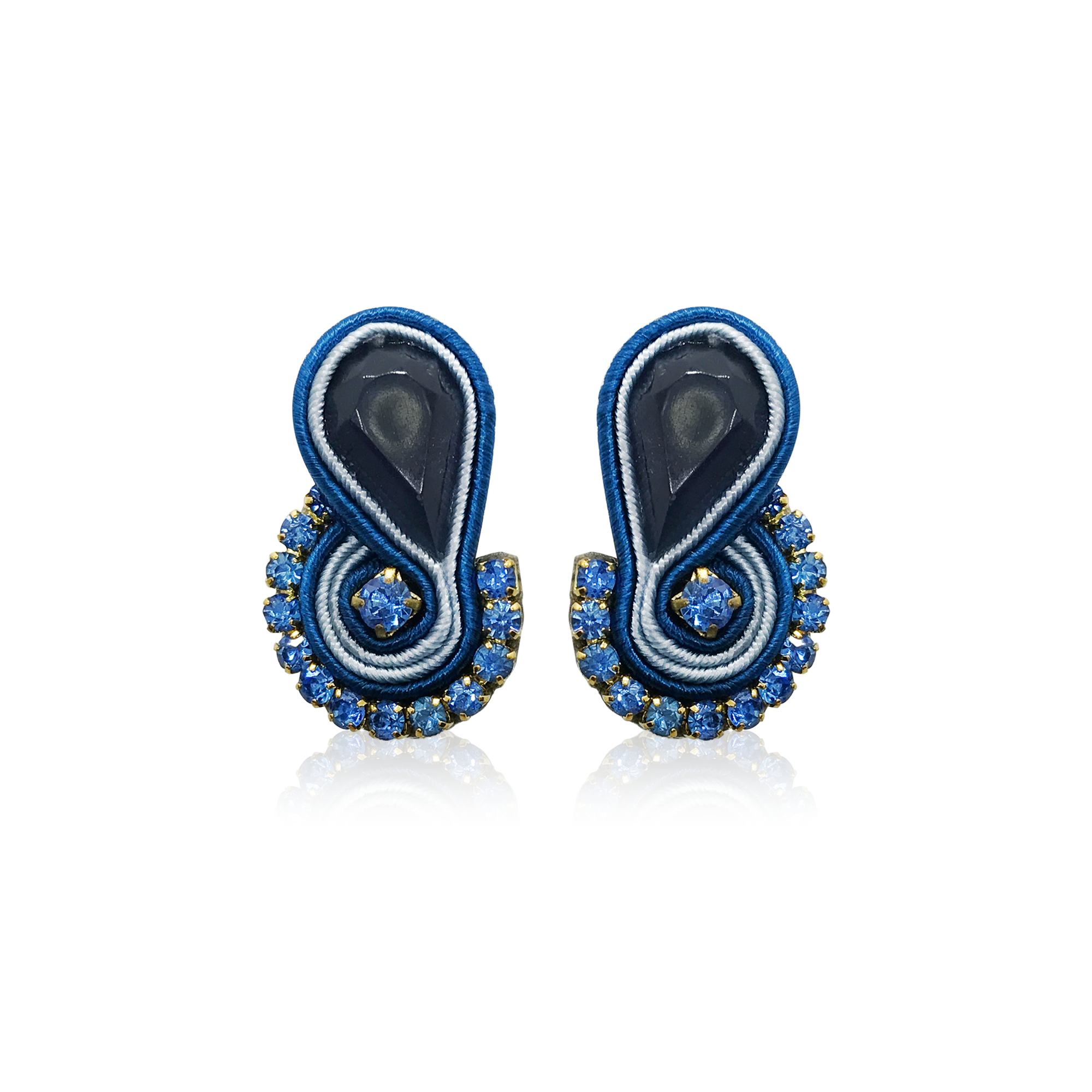Mini Mamma Navy Blue Earrings