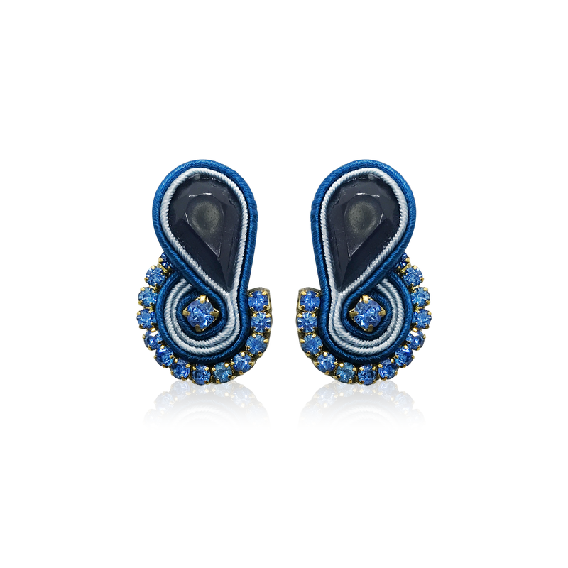Dopodomani Navy Blue Mini Mamma Earrings