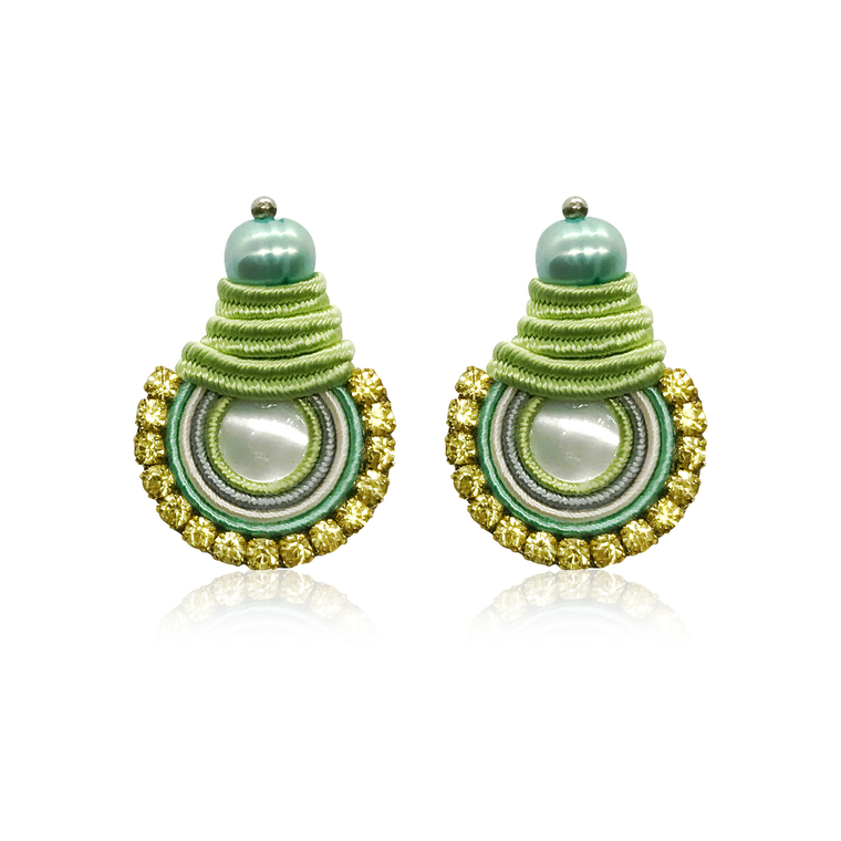 Mini NaKar Green Apple Earrings